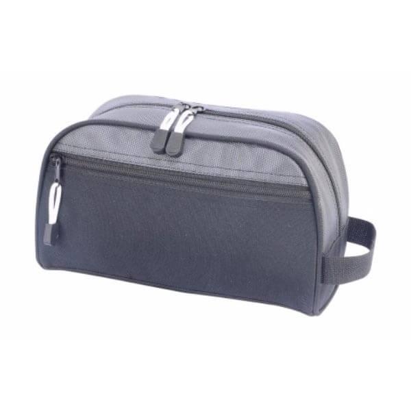 geanta cosmetice travel neagra gri