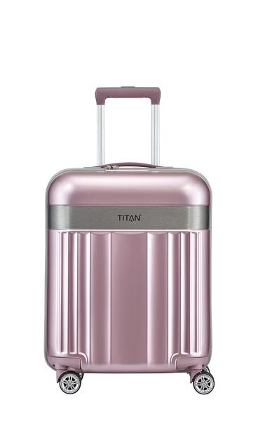 troler titan spotlight 4 roti duble s 55 cm roz