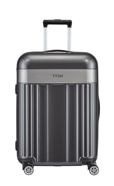 troler titan spotlight 4 roti duble m 67 cm antracit
