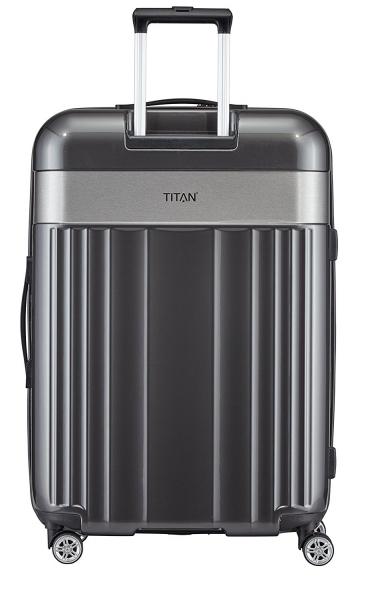 troler titan spotlight 4 roti duble l 76 cm antracit