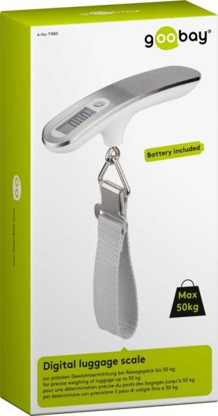 Cantar digital bagaje alb/argintiu 50kg