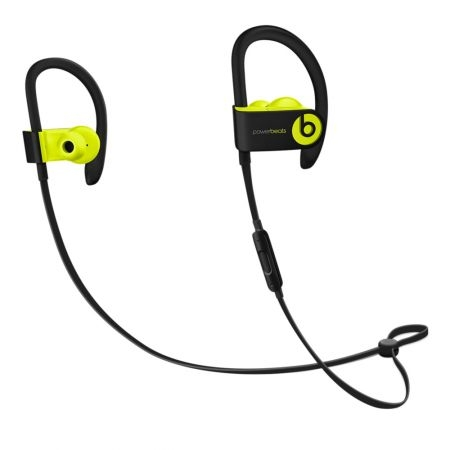casti beats powerbeats3 wireless earphones shock yellow mnn02zm