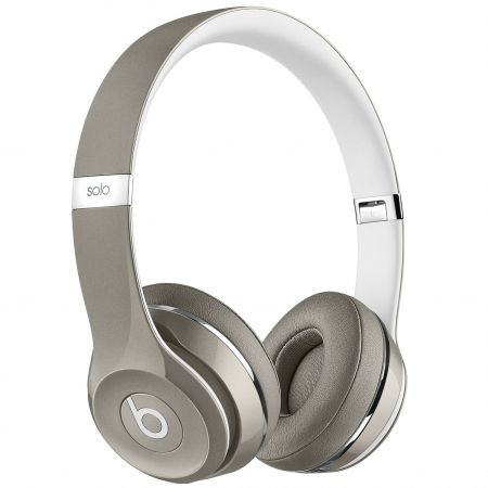 casti beats solo2 on ear (luxe ed.)silver mla42zm a