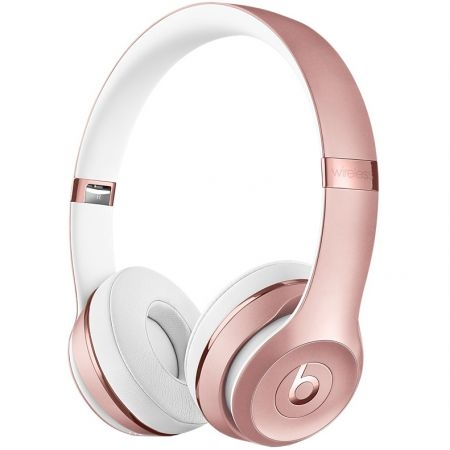 casti beats solo3 wireless on ear rose gold mnet2zm a