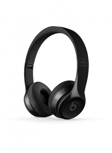 casti beats solo3 wireless on ear headphones gloss black mnen2zm