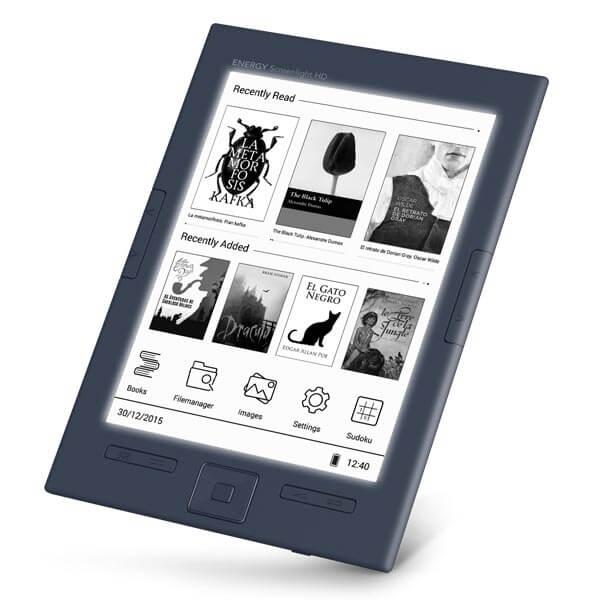 e book reader energy sistem screenlight hd 6 8gb