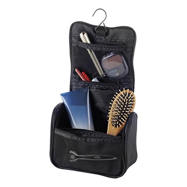 geanta cosmetice cu carlig negru