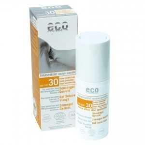 gel facial transparent cu protectie solara inalta fps 30 eco cosmetics