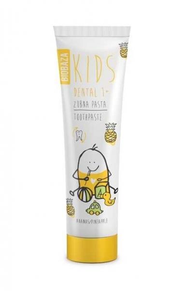 pasta de dinti naturala pentru copii 1 cu aroma de ananas 75 ml biobaza
