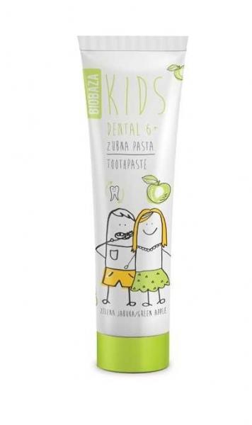 pasta de dinti naturala pentru copii 6 cu aroma de mar verde 75 ml biobaza
