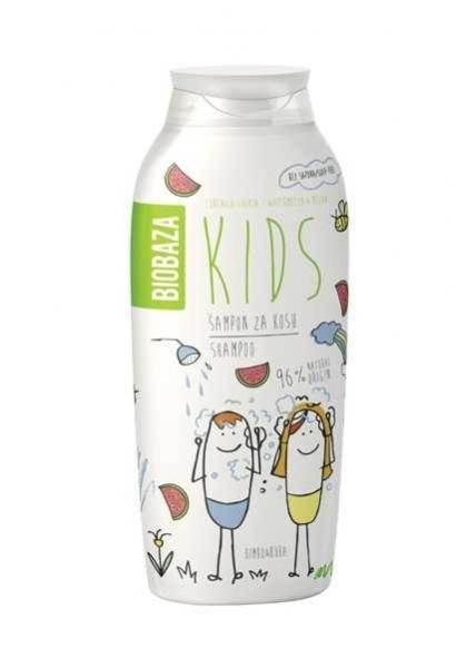 sampon natural pentru copii cu aroma de pepene 250 ml biobaza