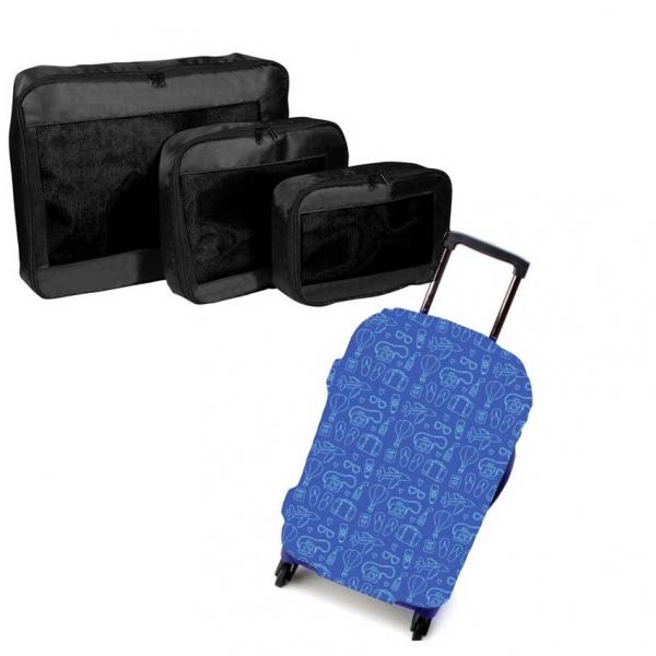 Set Traveller Packing Cubes Si Husa Troler