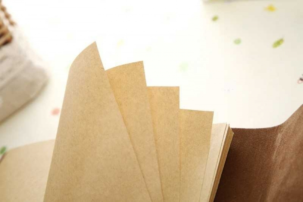 Notebook Vintage de calatorie piele ecologica maro deschis