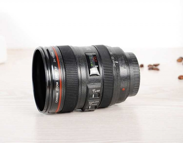 cana obiectiv aparat foto negru plastic