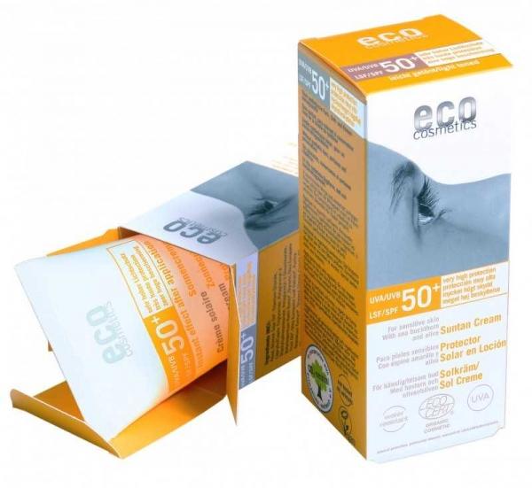 Crema bio cu protectie solara inalta FPS 50 , nuantata  -  Eco Cosmetics
