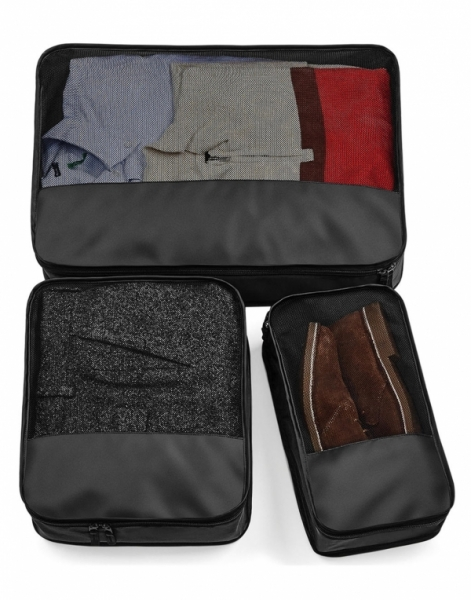 escape packing cubes set 3 genti bagaje negru
