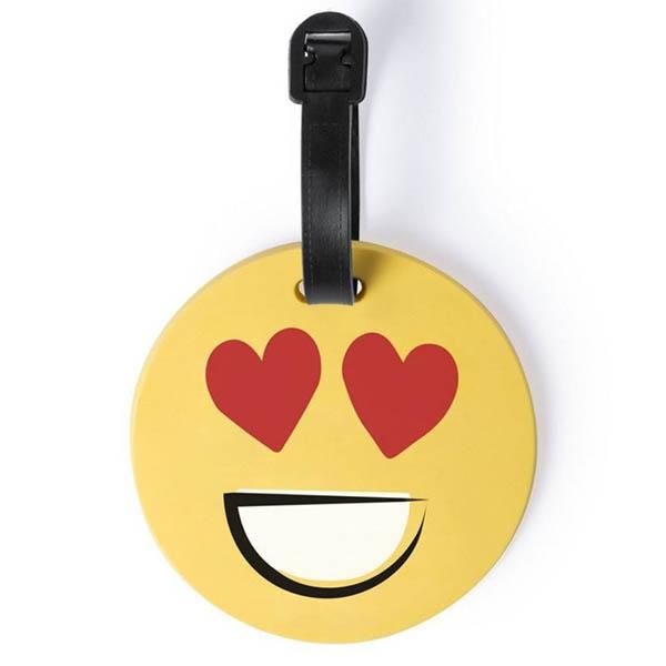 eticheta de calatorie smiling face love