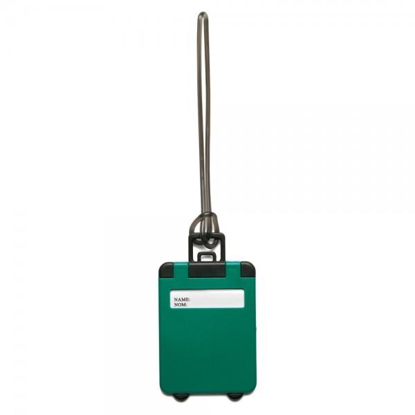 eticheta bagaj model valiza verde