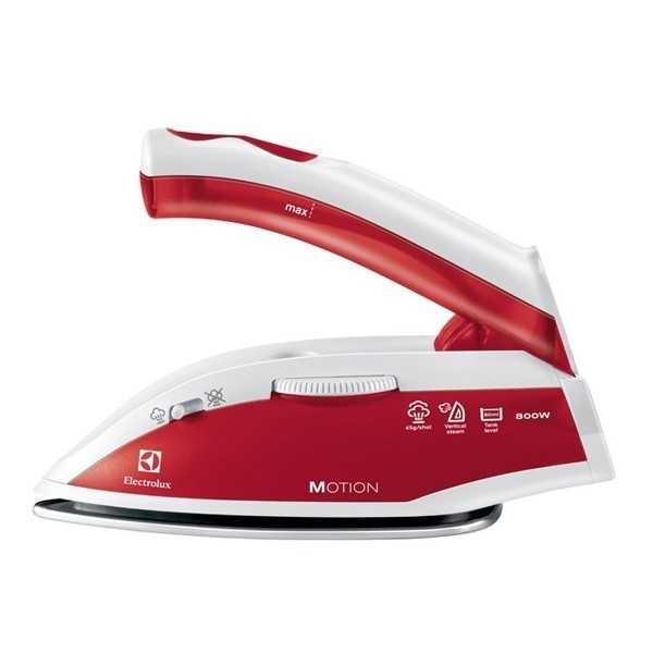 fier de calcat pentru voiaj electrolux motion edbt800 inox 800w alb rosu