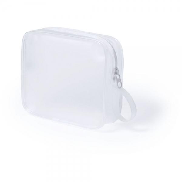 geanta cosmetice translucenta alba