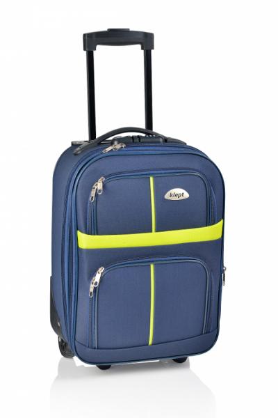 Klept Troler textil 2 roti Smart-42 Albastru cu verde
