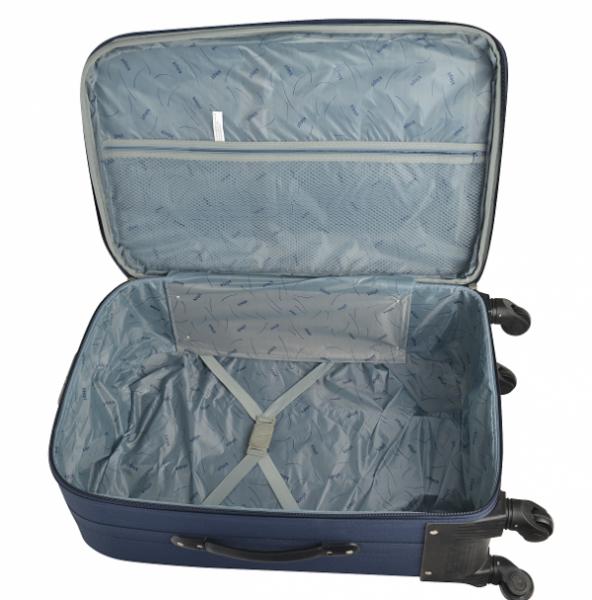 Klept Troler textil 4 roti FLY-75 Albastru cu verde