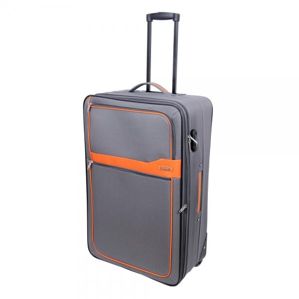 lamonza troler electra 74 cm gri cu portocaliu