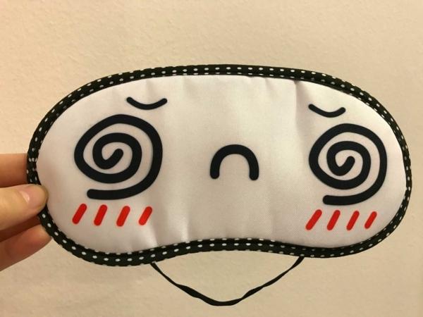 masca de somn pentru calatorie hypnotized