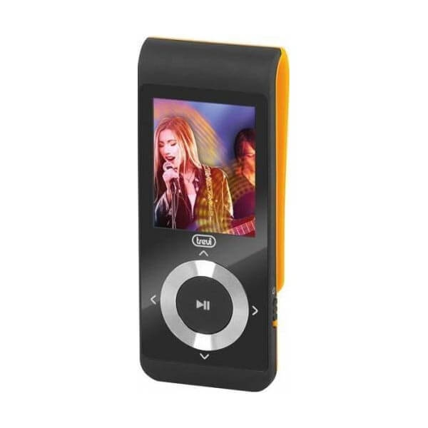 mp3 player trevi mpv 1728 4gb microsd in display lcd 1.8 radio fm portocaliu