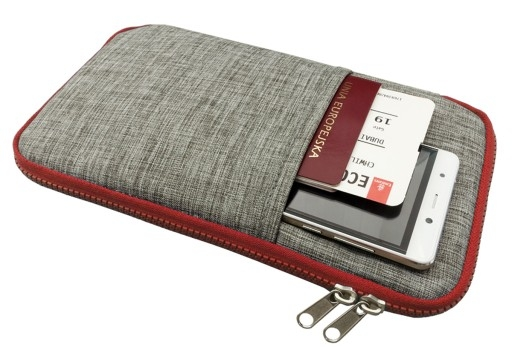 portofel de calatorie gri rosu