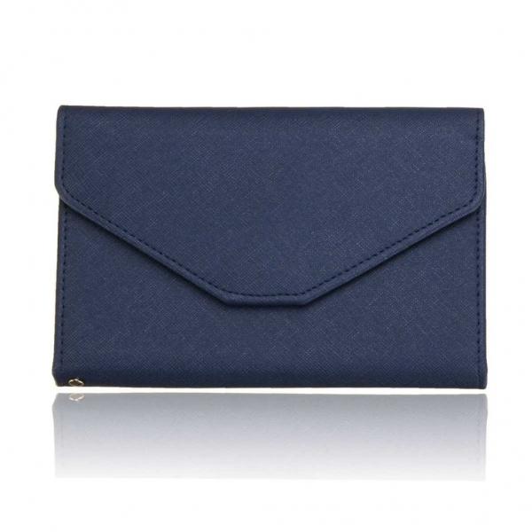 portofel multifunctional organizator documente albastru