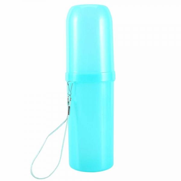 recipient pentru periuta si pasta de dinti albastru