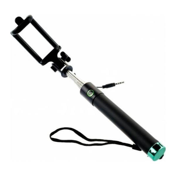 premium wired selfie stick tellur m76cf green