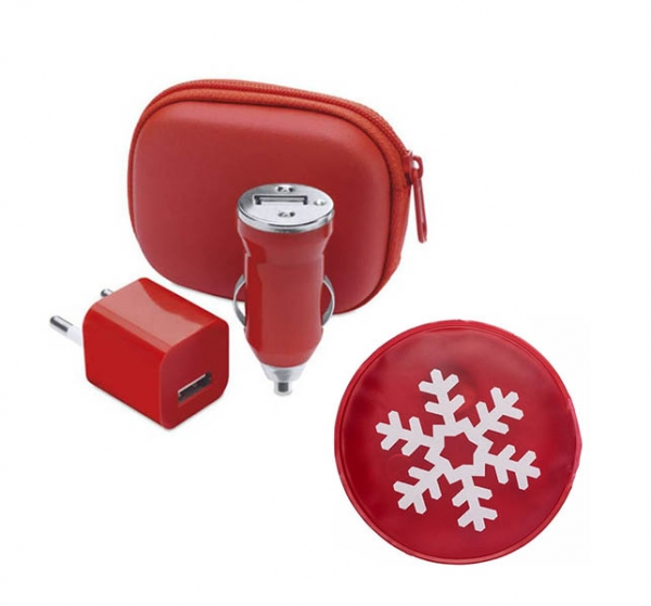 set traveller self heating pad si set incarcare voiaj