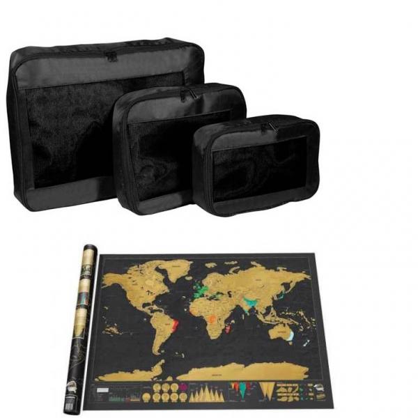 Set Traveller Packing Cubes Si Harta Razuibila
