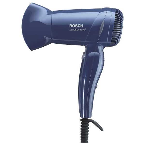 uscator de voiaj bosch phd1100 2 trepte duza coafat 1200w albastru
