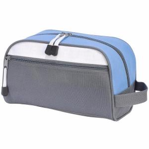 Geanta cosmetice travel gri/bleu