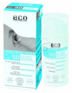 Lotiune fluida de protectie solara FPS 50 FARA PARFUM, 100 ml - Eco Cosmetics